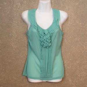 The Limited Mint Ruffled Tank Top Small